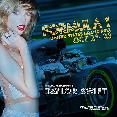F1 US Grand Prix Taylor Swift